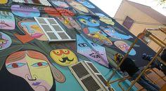 La street art di Jim Avignon e le telecamere di Sky Arte a Ravenna