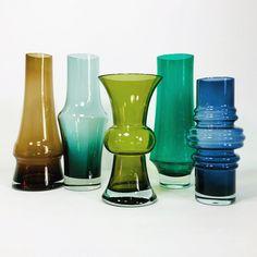 Blue Glass Vase, Purple Glass, Red Glass, Lassi, Turquoise Glass, Modern Glass, Midnight Blue, Icon Design, Scandinavian