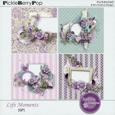 """This pack includes: 4 QP. <br />Created with """"Life Moments"""" kit. <br /> <br />Information about this product: All papers are saved 3600x3600 png 300DPI. <br />File type: Downloadable, file .zip <br />TOU: This product is reserved for a personal use. Think of consulting the TOU."""