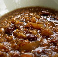 Easy Apple Porridge (Congee)  -crock pot recipe that can be breakfast or dessert!