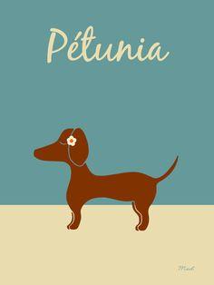 Pétunia, le chien qui aimait les fleurs.