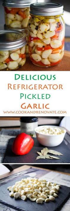 I love everything about garlic. I love the smell when I'm preparing garlic. I love the fragrance when cooking minced garlic in oil Pickled Garlic, Pickled Eggs, Garlic Recipes, Healthy Recipes, Refrigerator Pickles, Homemade Pickles, Fermented Foods, Canning Recipes, Ketchup