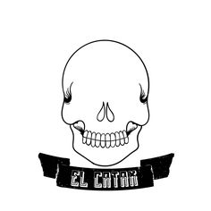Calavera sin ojos #skull #illustration