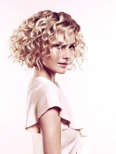I think curls like this would look cute with my moms short hair.