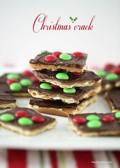 Happy Friday!! Who is excited for the weekend? Me, me me! My husband has Saturday AND Sunday off this week so I'm hoping to squeeze in a date night. ;) You know what else I'll be doing… making more Christmas crack. You are going to want to put this recipe on your MUST MAKE list …