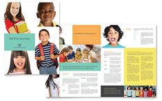 Charter School Brochure Template Design by StockLayouts