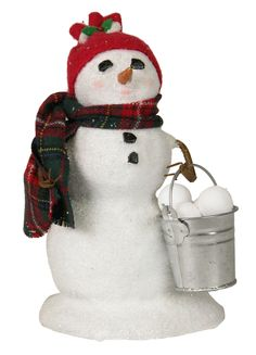 Byers' Choice Small Snowman with Snowballs Inv # 2983