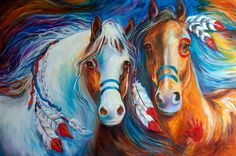 Horse Art Gallery: Indian War Horses Equine Art and Cityscape New Orleans ~ Commissioned Oil Paintings ~ Artist, Marcia Baldwin