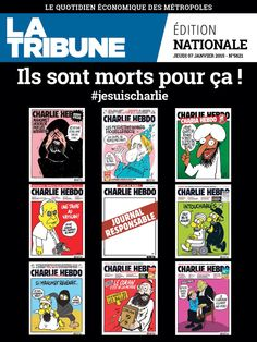 Newspaper front pages around the world pay tribute to Charlie World Pay, La Tribune, Paris Terror Attack, Newspaper Front Pages, Pray For Paris, Charlie Hebdo, Freedom Of Speech, Journal