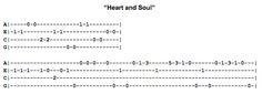 Heart and Soul Ukulele Fingerpicking Pattern