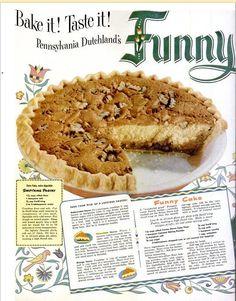 Funny Cake Amish Recipes, Cookbook Recipes, Cake Recipes, Dessert Recipes, Cooking Recipes, Cooking Stuff, Old Recipes, Apple Recipes, Retro Recipes