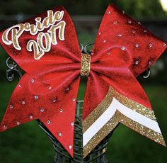 Bling and chevron cheer bow