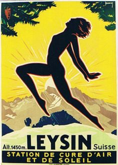 1930 Leysin, Resort for Air and sun cure