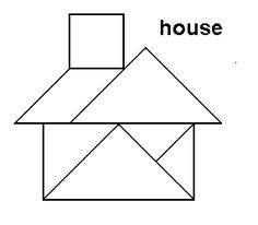 tangram house misc patterns for my tangram qb page google search