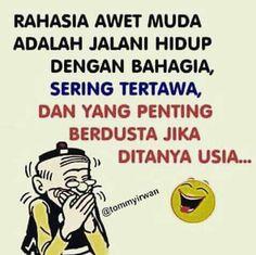 Quotes Lucu, Quotes Galau, Jokes Quotes, Qoutes, Memes, Cartoon Jokes, Islamic Quotes, Funny Cute, Laughter