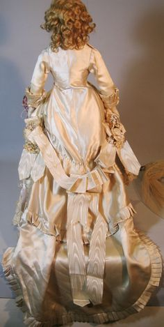 Antique French Fashion Bisque Head Doll Bride, Large, Beautiful! from victoriasdollhouse on Ruby Lane