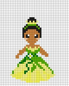 Tiana - The Princess and the  Frog Perler Bead Pattern