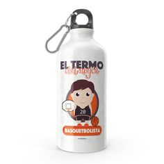Termo - El termo del mejor basquetbolista, encuentra este producto en nuestra tienda online y personalízalo con un nombre. Water Bottle, Drinks, Carton Box, Store, Crates, Drinking, Beverages, Water Bottles, Drink