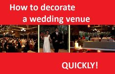 7 tips to get your DIY wedding decorated fast!