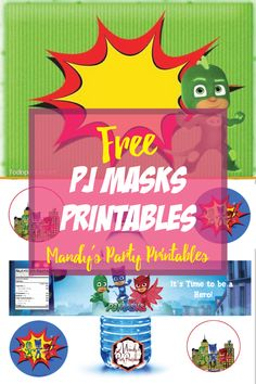 Make your party a DIY success with these Free PJ Masks Party Printables from Mandy's Party Printables. Diy Party Mask, Pj Mask Party Decorations, Pjmask Party, Party Themes, Party Ideas, Pj Masks Printable, Party Printables, 4th Birthday Parties, 3rd Birthday