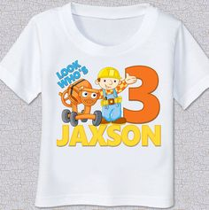 CUSTOM PERSONALIZED BOB THE BUILDER T SHIRT
