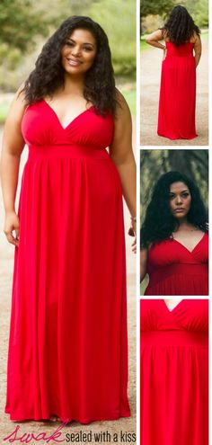 A classic red spaghetti strap plus size maxi dress is perfect for every occasion. A fitted top and flowing skirt make this red figure-flattering plus size maxi dress perfect for day, night and special occasions. A wardrobe basic! Dress it up with bold earrings or keep it simple with classic flats or wedges. This material is virtually wrinkle-free. Curvy Women Fashion, Plus Size Fashion, Plus Size Casual, Plus Size Maxi Dresses, Plus Size Women, Fashion Outfits, Spaghetti, Simple, Wedges