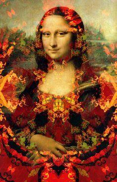 Monnalisa Kids, La Madone, Mona Lisa Parody, Mona Lisa Smile, Plus Size Art, Pop Art Wallpaper, Renaissance Artists, Art For Art Sake, Classic Image