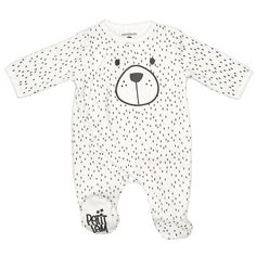 Baby Boys Bear Footie (0-9m)