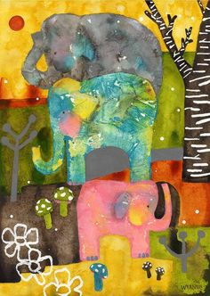 Elephant quilt idea
