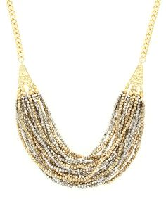 Look at this Gold & Silvertone Luxurious Layers Necklace on #zulily today!