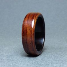Size 3-8,5 US Hand carved warterproof acrylic stone ring Thin brown ring