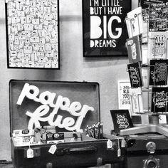 """Instagram @webvedettes's photo: """"Karin @paper_fuel had een prachtige presentatie op #flavlive. Mooi, die piepschuimen letters, en grappig dat alles rechtstreeks uit de koffer lijkt te komen. Super pop-up stand naast het #papieratelier van @happymakersblog! ^Di"""""""