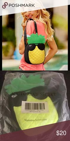 f8c9404b492 Pink pineapple cooler tote Brand new in sealed packaging. Victoria s Secret  Pink Pineapple cooler tote