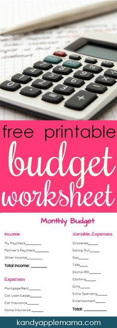 Free Budget Binder Printables Make Saving Money Easy Pinterest - How To Make A Household Budget Spreadsheet
