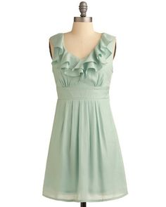 Mint + Ruffles = Love at first sight!