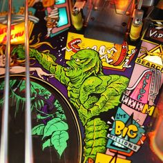 View our top quality Black Lagoon Pinball Machine to add that touch of fun to your games room, office space or home decor. Pinball Wizard, Dark And Twisted, Black Lagoon, Wizards, Game Room, Bobs, Creatures, Memories, Games
