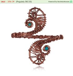 Spring Sale - 30% Off Burning man jewelry Turquoise stone  Upper arm cuff braceletarmband handmade 1.5mm brass or copper wireadjustabl... by energywire from Ecommmax. Find it now at http://ift.tt/1VoBebG!