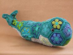 Moby the African Flower Whale by Lineandloops on Etsy