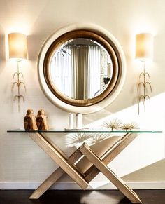Adventures in Decorating: Entryway decor with golden hues