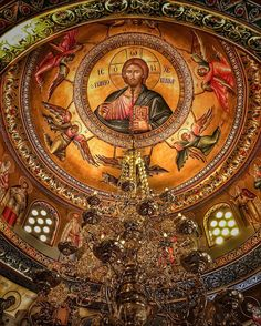 The chapel of St. Gerasimos of Kefalonia in the Monastery of Dovra in Veria Ιερά Μονή Παναγίας Δοβρά #monastery #greekorthodox #orthodox #christian #church #liturgy #Greece #greek #deacon #priest #monk #god #religion #jesus #architecture #byzantine #art #lifestyle #naousa #holy #saint #gopro #sunny #sony #autumn #candle #dark #night #pray #relics by paulos_papa