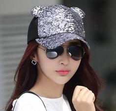 Summer trucker cap with ears for women sun protection baseball caps
