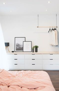 if no tv in bedroom can add a mirror on the right. Can place ikea drawers together&; if no tv in bedroom can add a mirror on the right. Can place ikea drawers together&; Tv In Bedroom, Bedroom Furniture, Bedroom Decor, Design Bedroom, Bedroom Ideas, Ikea Bedroom, Bedroom Small, Master Bedrooms, Bedroom Inspiration