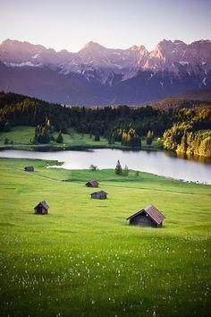 Mountain Lake, Bavaria,Germany
