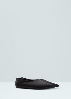 Premium - leather babouches - Shoes for Woman | MANGO Netherlands