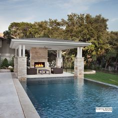 Stock Tank Swimming Pool Ideas, Get Swimming pool designs featuring new swimming pool ideas like glass wall swimming pools, infinity swimming pools, indoor pools and Mid Century Modern Pools. Find and save ideas about Swimming pool designs. Pool House Designs, Backyard Pool Designs, Swimming Pool Designs, Backyard Patio, Backyard Landscaping, Landscaping Ideas, Backyard Cabana, Pool Gazebo, Backyard Fireplace