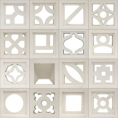 Breeze Blocks from Tesselle Breeze Block Wall, Mid Century Exterior, Load Bearing Wall, Wall Molding, Mediterranean Homes, Concrete Blocks, Facade Design, Facade Architecture, Mid Century House