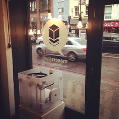 """Marketed as """"a space for makers, wonderers, tinkerers, the designers and creatives in general"""", London-based makersCAFÉ could probably be. Café Bistro, 3d Printing, Ikea, Designers, Logo Design, Coffee, Boutiques, Laser Cutting, Creative"""