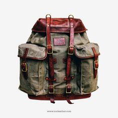 Tộc Leather 87 - Vintage Swiss Mountain Rucksack / Army Backpack of the Swiss Military in the 1940s Handcrafted by Tộ...