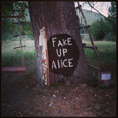 #answer #whoyouare? #aliceinwonderland #artinstallation