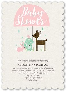 Baby Shower Invitation: Is This A Shower, Scallop Corners, Pink